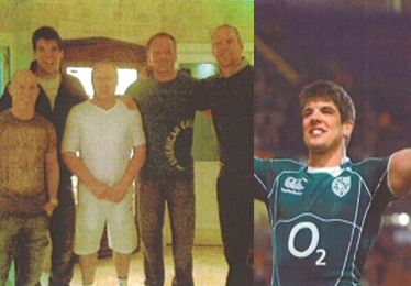 Peter Stringer, Donncha O'Callaghan, Paul O'Connell - rugby champions